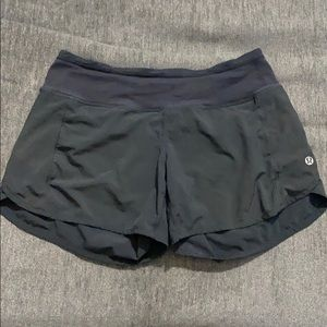 Lululemon Speed Up black shorts size 4